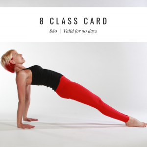 8 Class Card – valid for 90 days